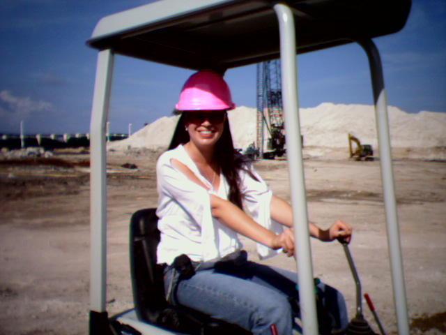 Jennifer on job site