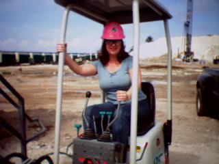 Andrea on job site